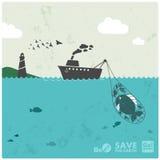Industria della pesca royalty illustrazione gratis