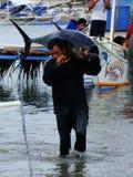 Industria della pesca artigianale del tonno albacora in Philippines#29 Fotografie Stock