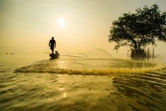 Industria della pesca di Siluate Fotografie Stock