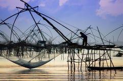 Industria della pesca tailandese Immagini Stock Libere da Diritti
