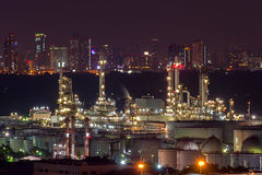 Industria della raffineria Fotografia Stock