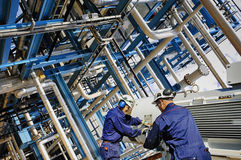 Industria della raffineria di energia e di potere Fotografia Stock Libera da Diritti