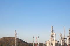 Industria della raffineria di petrolio per il fondo della fabbrica Immagini Stock