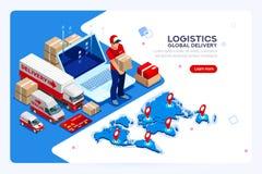 Industria della spedizione e della consegna di web illustrazione vettoriale