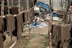 Industria di cuoio di Kolkata Immagini Stock