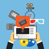 Industria di media di Digital Immagini Stock