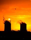 Industria di tramonto Immagini Stock