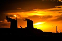 Industria di tramonto Fotografia Stock Libera da Diritti