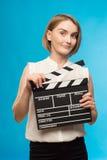 Industria do cinema do trabalhador Fotos de Stock Royalty Free