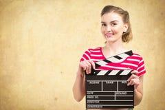 Industria do cinema do trabalhador Imagens de Stock