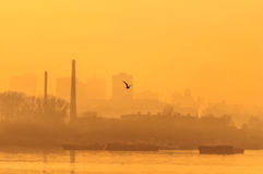 Industria e natura Fotografie Stock