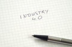Industria 4 0 en escritura imagenes de archivo
