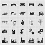 Industria, energia ed icone della ferrovia messe royalty illustrazione gratis