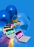Industria farmacéutica e Internet Fotografía de archivo libre de regalías