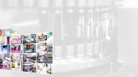 Industria farmaceutica - collage Fotografia Stock