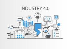 industria 4 0 fondi dell'illustrazione come esempio per Internet di tecnologia di cose royalty illustrazione gratis