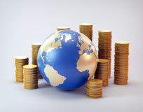 Industria global de las finanzas Fotos de archivo libres de regalías