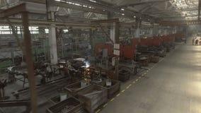 Industria Ingeniería de planta Tiro video por el abejón, el palmo de la soldadura almacen de metraje de vídeo