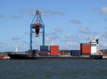 Industria naval de cargo imagenes de archivo