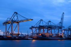Industria nel porto di Rotterdam Fotografie Stock