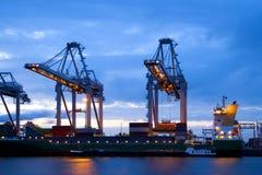 Industria nel porto di Rotterdam Fotografia Stock