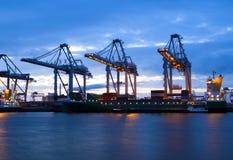 Industria nel porto di Rotterdam Fotografia Stock Libera da Diritti