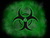 Industria nuclear del Biohazard, logotipo del estilo artístico, cartel estupendo del negocio del extracto de la calidad Imagen de archivo libre de regalías