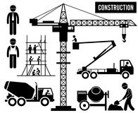 Industria pesada Clipart de la construcción stock de ilustración