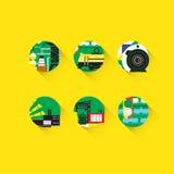 Industria pesada Conjunto de iconos Imagen de archivo libre de regalías