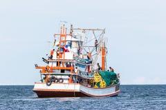 Industria pesquera en Tailandia Imágenes de archivo libres de regalías