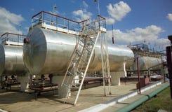 Industria petrolera. gas-transferencia Foto de archivo libre de regalías