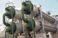 Industria petrolera. gas-transferencia Fotografía de archivo libre de regalías