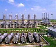 Industria petrolifera e del gas Fotografie Stock Libere da Diritti