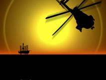 Industria petrolifera in mare aperto Immagine Stock Libera da Diritti