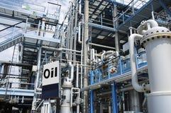 Industria petrolifera petrochimica Fotografia Stock Libera da Diritti