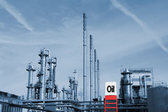 Industria petrolifera petrochimica Fotografia Stock