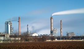 Industria petroquímica - exposición larga imagen de archivo libre de regalías