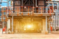 Industria refinería de petróleo, del petróleo y gas petroquímicos de la refinería, el equipo del refino de petróleo, primer de tu Foto de archivo
