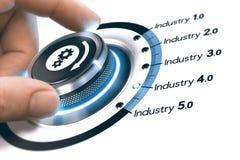 industria 4 0, rivoluzione industriale seguente Immagine Stock Libera da Diritti