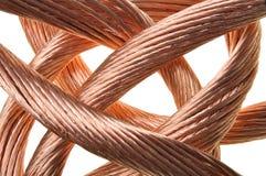 Industria roja del alambre de cobre Imágenes de archivo libres de regalías