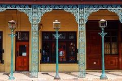 Industria siderúrgica en distrito histórico del ` s Sevilla de Pensacola foto de archivo libre de regalías
