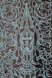 Industria siderurgica cambogiana e divinità in tempio di Pnomh Penh Immagini Stock