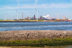 Industria siderurgica in IJmuiden, Paesi Bassi Fotografie Stock