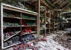 Industria tessile abbandonata Immagini Stock