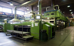 Industria tessile (denim) - morendo Immagine Stock