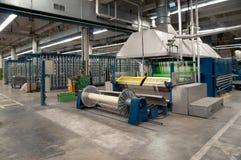Industria tessile - tessendo e deformando immagine stock libera da diritti