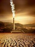 Industria y el ambiente Fotografía de archivo libre de regalías