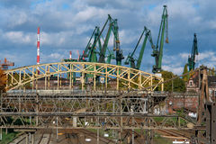 Industrial -1. Municipal industrial landscape. Poland, Gdansk Royalty Free Stock Photo