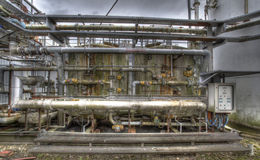 Industrial 1. Industrial Pipework Chemical Works Industry Stock Photo