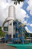 Industrial 1. Vertical cylindrical equipment at a geothermal facility Royalty Free Stock Photos